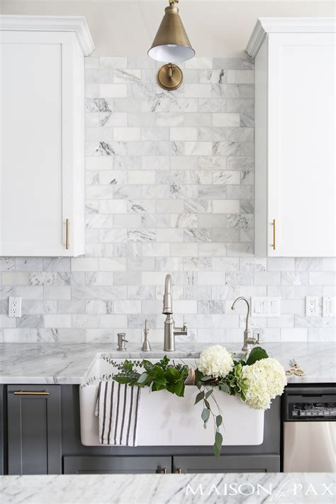 how to care for marble countertops maison de pax 14 white marble kitchen backsplash ideas you ll love