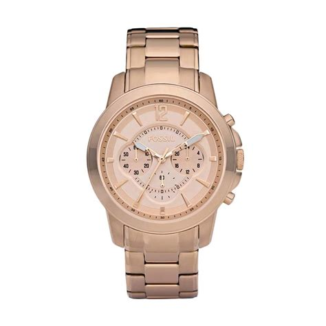 Nwt Jam Fossil Rosegold jual fossil grant chronograph ion plated fs4635 jam tangan