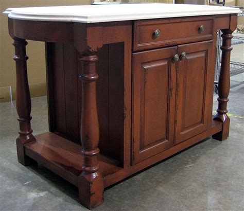 6 ft wide country kitchen island w 1 large drawer