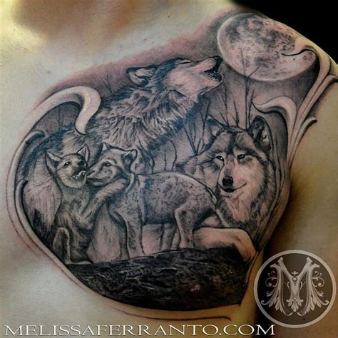 wolf pack tattoo by melissa ferranto tattoonow