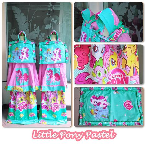Mukena Anak Ponny Magical Biru Size M jual mukena anak pony pastel size xs model terbaru 2018