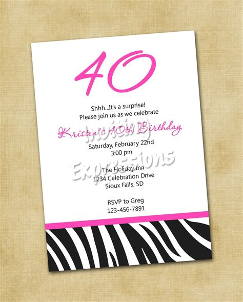 invitation quotes for birthday invitations for 40th birthday quotes quotesgram