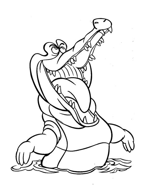 free coloring pages peter pan neverland