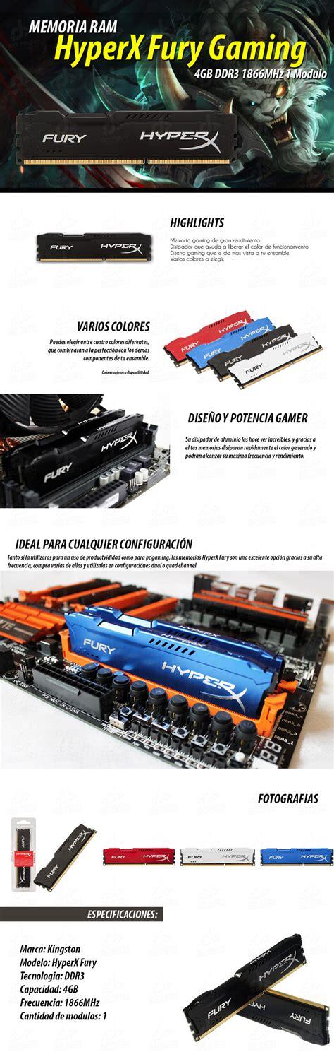 Promo Kingston Hyper X Fury Ddr4 8gb 1x8gb Pc19200 2400mhz Single Ch memoria ram ddr3 4gb 1866mhz kingston hyperx fury 1 modulo dd tech