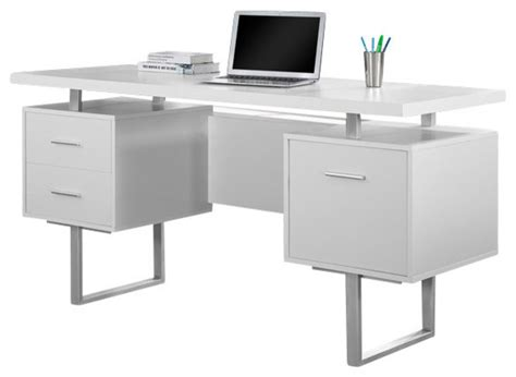 Metal Computer Desk With Hutch Monarch Specialties Computer Desk 60 Quot Cappuccino Silver Metal I7080 Desks And Hutches By