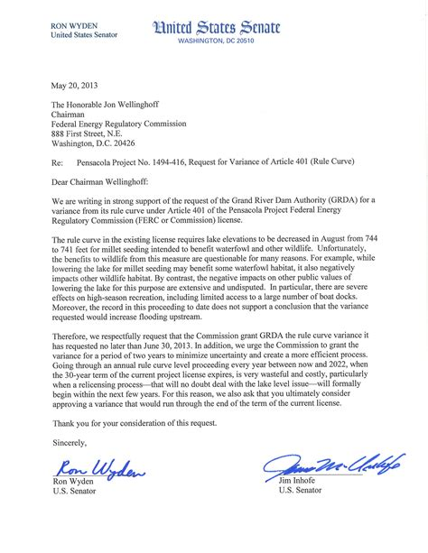 Variance Request Letter Exle Grda Grda Variance Request Gets Support Of Senators