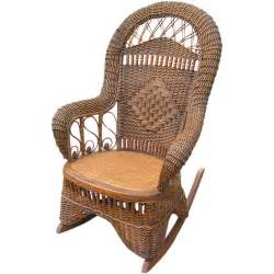 victorian wicker rocking chair at 1stdibs