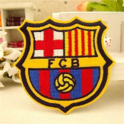 Patch Barcelona 2pcs fc barcelona iron on patch spain football la liga soccer fcb decal 2 3 x 2 3 inches