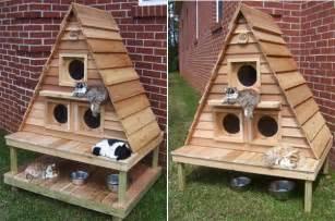 outdoor cat house plans woodwork cat house designs outdoor pdf plans