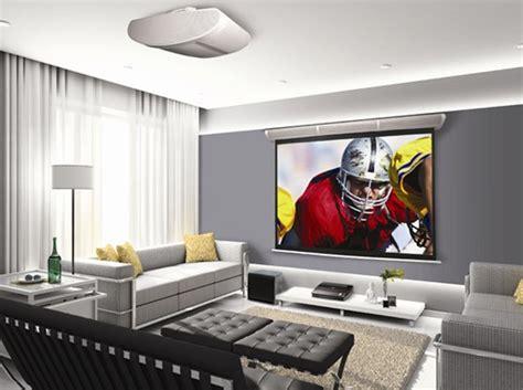 cool  minimalist home theater design  sofa