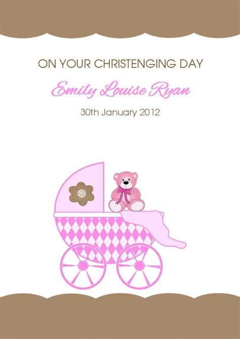 personalised girl christening card