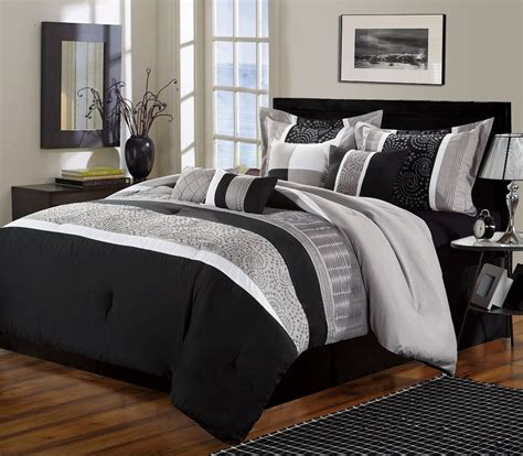 white and black comforter sets black and white bedrooms a symbol of comfort that is elegant