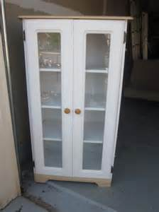 White Curio Cabinet With Glass Doors Beautiful White W Glass Doors Curio Cabinet Ebay