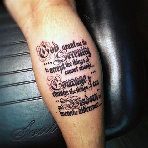 serenity prayer tattoo ideas 50 serenity prayer designs for uplifting ideas