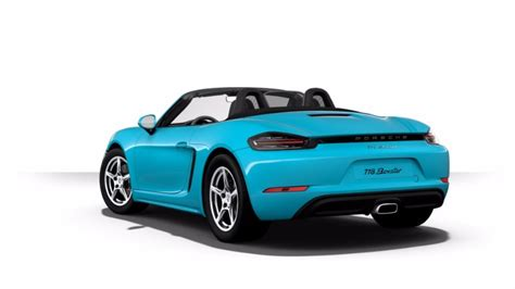 miami blue porsche boxster 2018 porsche 718 boxster exterior paint color options
