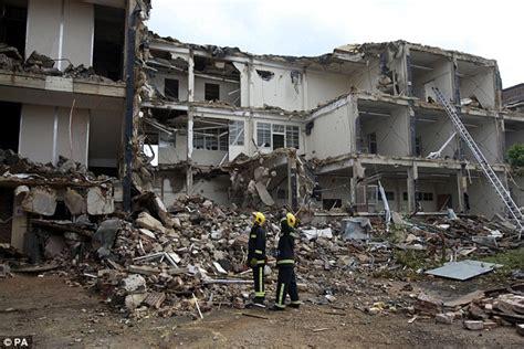 earthquake uk emergency services recreate earthquake scene for training