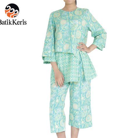 Celana Batik Keris celana kulot 7 8 blus 3 4 batik motif sekar ndadari kombinasi kawung batik keris