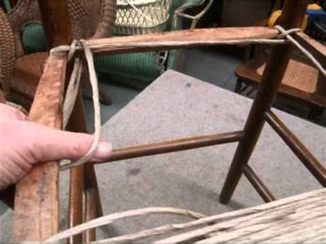 How To Weave A Chair Seat by How To Weave Style Seat Using Paper Cord