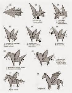 Pegasus Origami - make origami pegasus origami and craft