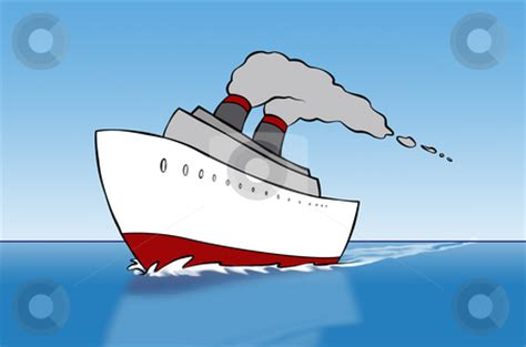 boat wash cartoon cartoon cruise ship stock photo