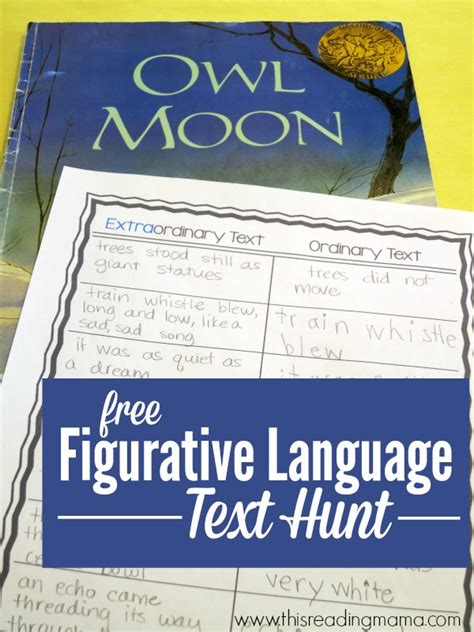 picture books with figurative language figurative language scavenger hunt through text