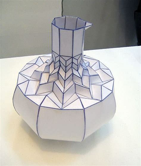 Origami Vase - 17 best images about estruturas em papel on