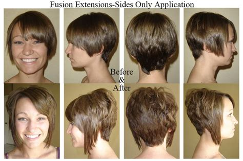 hair fusion applied to short hair before and after pin by bianca ja on short hair collection cute pixies
