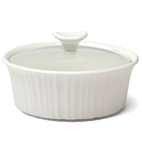 corningware french white round casserole dish 1 4l