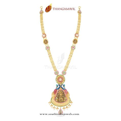 new gold long necklace from thangamayil jewellery south