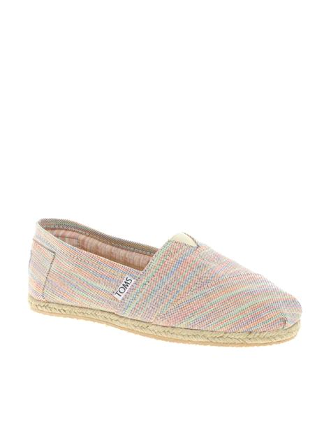striped flat shoes toms baxter stripe espadrille flat shoes in multicolor