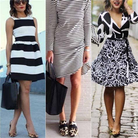 What Colour Goes With Black And White | what color shoes to wear with black and white dress