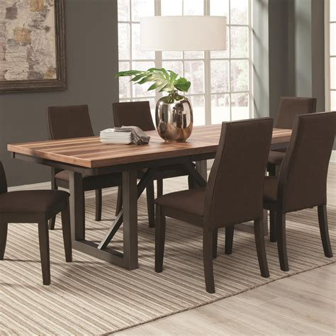 coaster dining room table coaster creek 106581 dining table with 18
