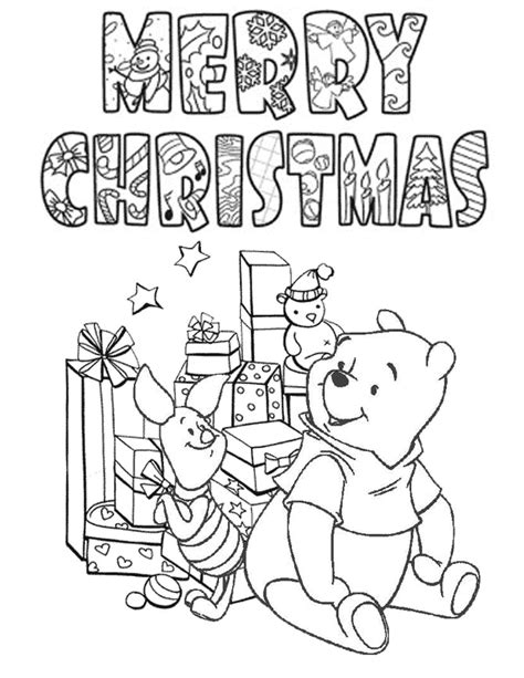 christmas coloring pages pooh bear coloring pages