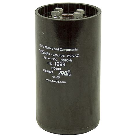 start capacitor 105 126 mfd 250 vac motor start capacitor motor start capacitors capacitors electrical