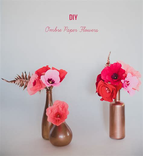diy ombre paper flowers green wedding shoes wedding