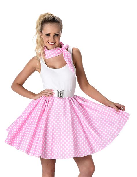 Light Pink Fifties Costume For Adults Costumes And