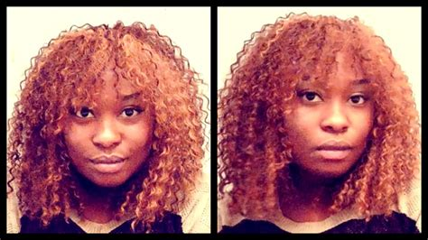 curly sew in with bangs curly sew in with front bangs no leave out for beginners