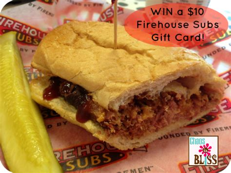 Firehouse Subs Gift Card - giveaway win a 10 gift card to firehouse subs