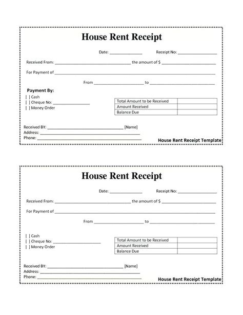 vacation home rental receipt template sle rent invoice rent invoice template house rent bill