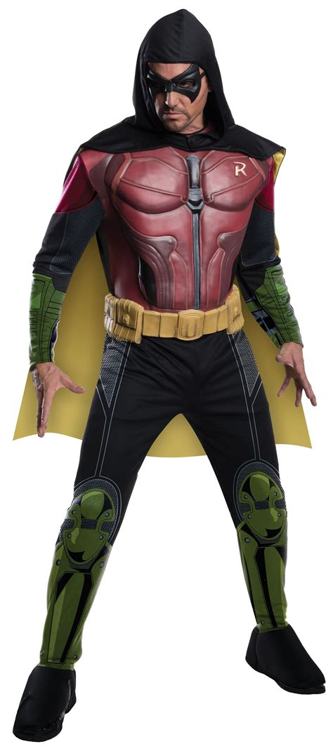 batman arkham franchise men robin deluxe halloween costume