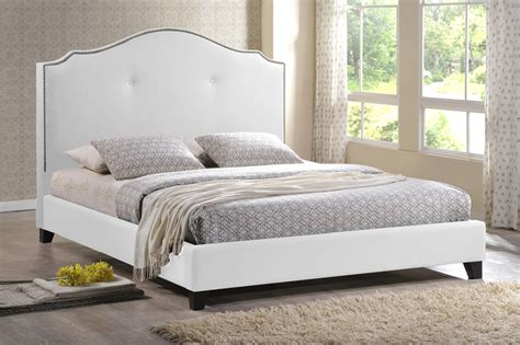 white queen size bed sabrina white modern bed with overstuffed headboard king