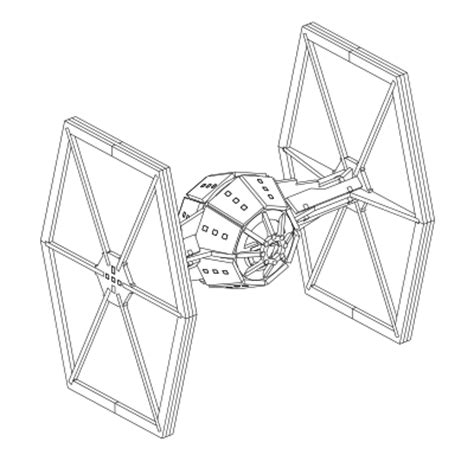 star wars tie fighter coloring page tie fighter