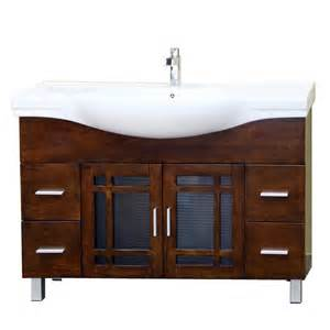 bathroom vanities with tops single sink shop bellaterra home medium walnut integrated single sink
