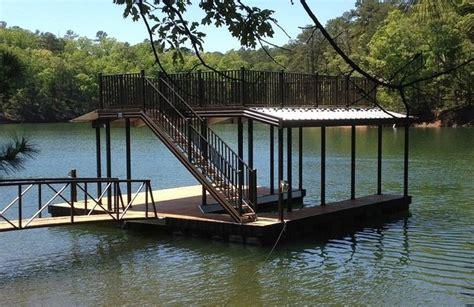 floating aluminum boat house casey custom docks completes wahoo cat 5 aluminum floating