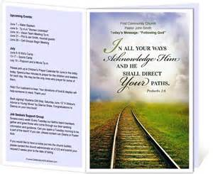 church bulletin templates church bulletin templates railroad church bulletin
