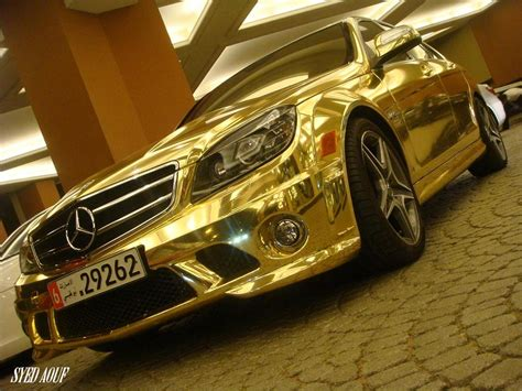 mercedes jeep gold gold car mercedes c63 amg funtim