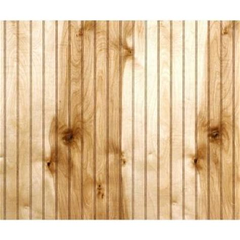 Interior Wall Paneling Home Depot | 32 sq ft birch beadboard paneling 352609 the home