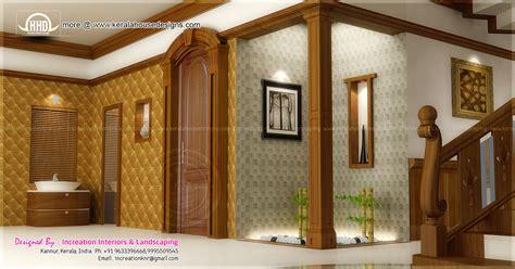 foyer interior house interior ideas in 3d rendering kerala home design