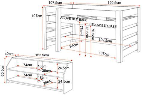 modern white seconique lollipop bunk bed mid sleeper