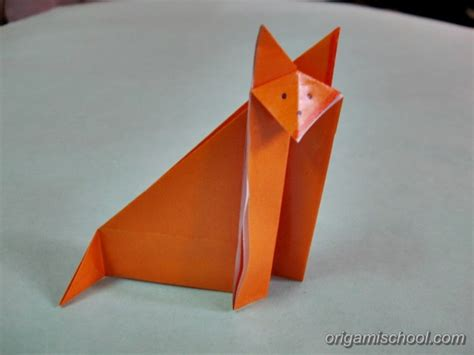 Fox Origami - origami fox how to make origami fox